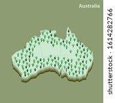 australia bush fire after new... | Shutterstock .eps vector #1614282766
