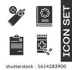 set medicine bottle and pills ...   Shutterstock .eps vector #1614283900