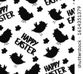 seamless pattern with black... | Shutterstock .eps vector #1614351379