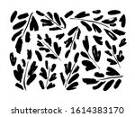 leaves and branches vector... | Shutterstock .eps vector #1614383170