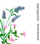 watercolor.elegant card with... | Shutterstock . vector #1614391303
