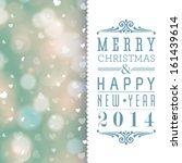 elegant merry christmas and... | Shutterstock . vector #161439614