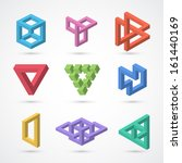 colorful impossible shapes.... | Shutterstock .eps vector #161440169