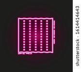 matzo neon style icon. simple...