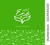 organic seamless pattern vector ... | Shutterstock .eps vector #1614434233