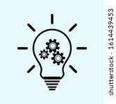 Lightbulb Icon With Cogs  Gears ...