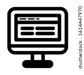 website page icon isolated sign ...