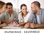 group of business people in... | Shutterstock . vector #161444810
