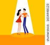 people dancing salsa  kizomba ... | Shutterstock .eps vector #1614448123