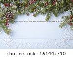 winter background   blue... | Shutterstock . vector #161445710