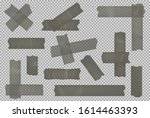 adhesive tape set isolated on... | Shutterstock .eps vector #1614463393