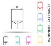 tank multi color style icon....