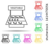 counter with vegetables multi...
