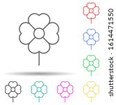 flower multi color style icon....