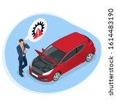 online roadside assistance.... | Shutterstock .eps vector #1614483190