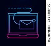laptop receive email nolan icon....