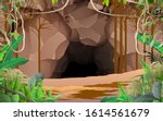 landscape of cave in the jungle | Shutterstock .eps vector #1614561679