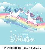 valentine's day greeting design ... | Shutterstock .eps vector #1614565270