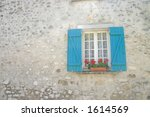 window with blue shutters and... | Shutterstock . vector #1614569