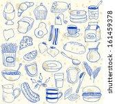 illustration of breakfast... | Shutterstock .eps vector #161459378