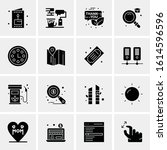 16 business universal icons... | Shutterstock .eps vector #1614596596