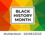 black history month.... | Shutterstock .eps vector #1614613210