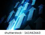 blue arrows on black background | Shutterstock . vector #161462663