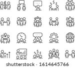set of teamwork icons  meeting  ... | Shutterstock .eps vector #1614645766