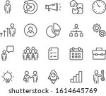 set of business icons  people ... | Shutterstock .eps vector #1614645769