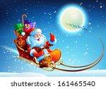 santa claus in a sleigh | Shutterstock .eps vector #161465540