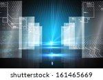 hologram on futuristic... | Shutterstock . vector #161465669