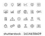 set of 24 data proceassing web... | Shutterstock .eps vector #1614658609
