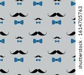 seamless men pattern of black...   Shutterstock .eps vector #1614705763
