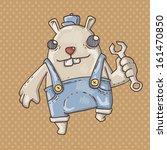 dog mechanic | Shutterstock .eps vector #161470850