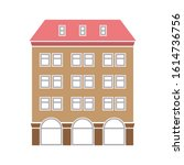 classic hotel icon. flat...   Shutterstock .eps vector #1614736756