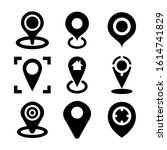 gps icon isolated sign symbol...   Shutterstock .eps vector #1614741829