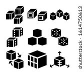 cube icon isolated sign symbol...   Shutterstock .eps vector #1614750613