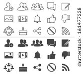 social network thin icons ... | Shutterstock .eps vector #161477228
