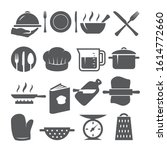 cooking icons set on white... | Shutterstock .eps vector #1614772660