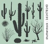 vector set of silhouettes of... | Shutterstock .eps vector #161478140