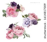 bouquets of flowers  can be... | Shutterstock . vector #1614817009