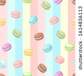 french confection macaron cake  ...   Shutterstock .eps vector #1614836113