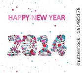 new year celebration vector... | Shutterstock .eps vector #161485178