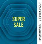 super sale abstract background... | Shutterstock .eps vector #1614853420