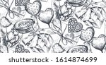 seamless pattern with hand... | Shutterstock .eps vector #1614874699