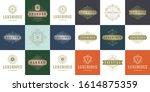 vintage logos and monograms set ...   Shutterstock .eps vector #1614875359