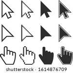 clicking mouse and cursors... | Shutterstock .eps vector #1614876709