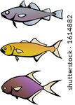three fish | Shutterstock .eps vector #1614882