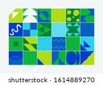 modern artwork of abstract... | Shutterstock .eps vector #1614889270