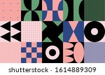 modern artwork of abstract... | Shutterstock .eps vector #1614889309